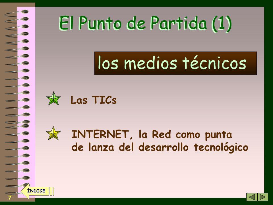 El Punto de Partida (1) los medios técnicos Las TICs