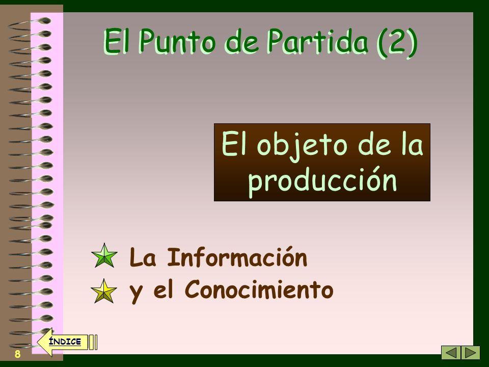 El objeto de la producción