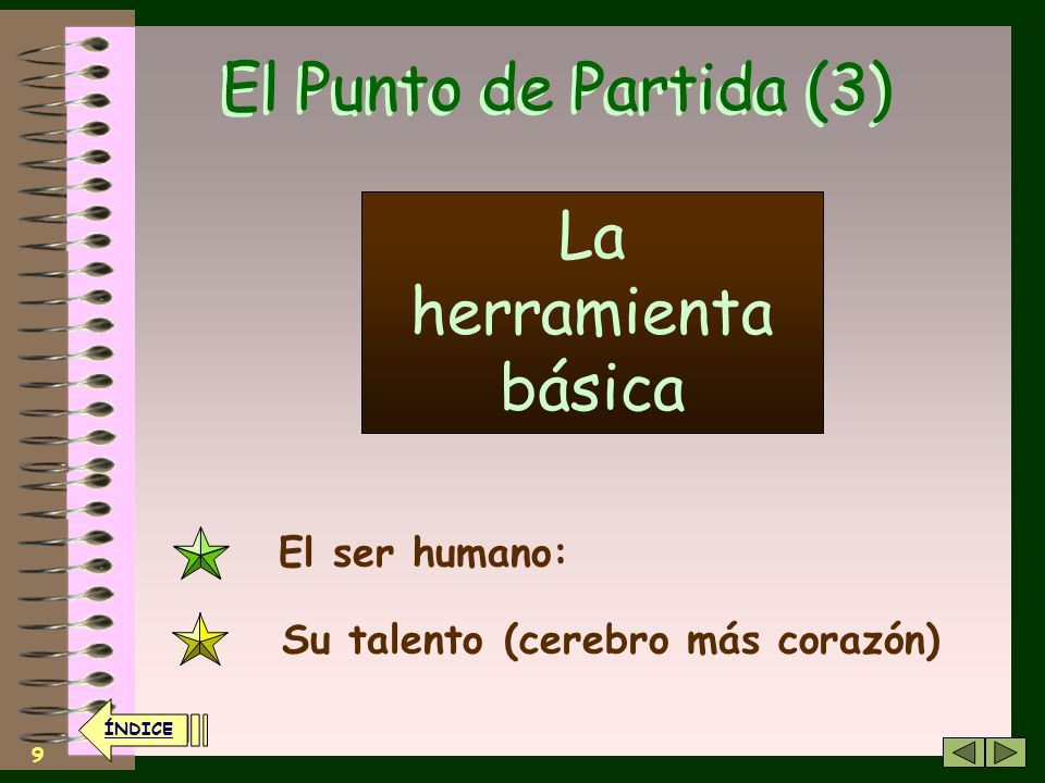 El Punto de Partida (3) La herramienta básica El ser humano: