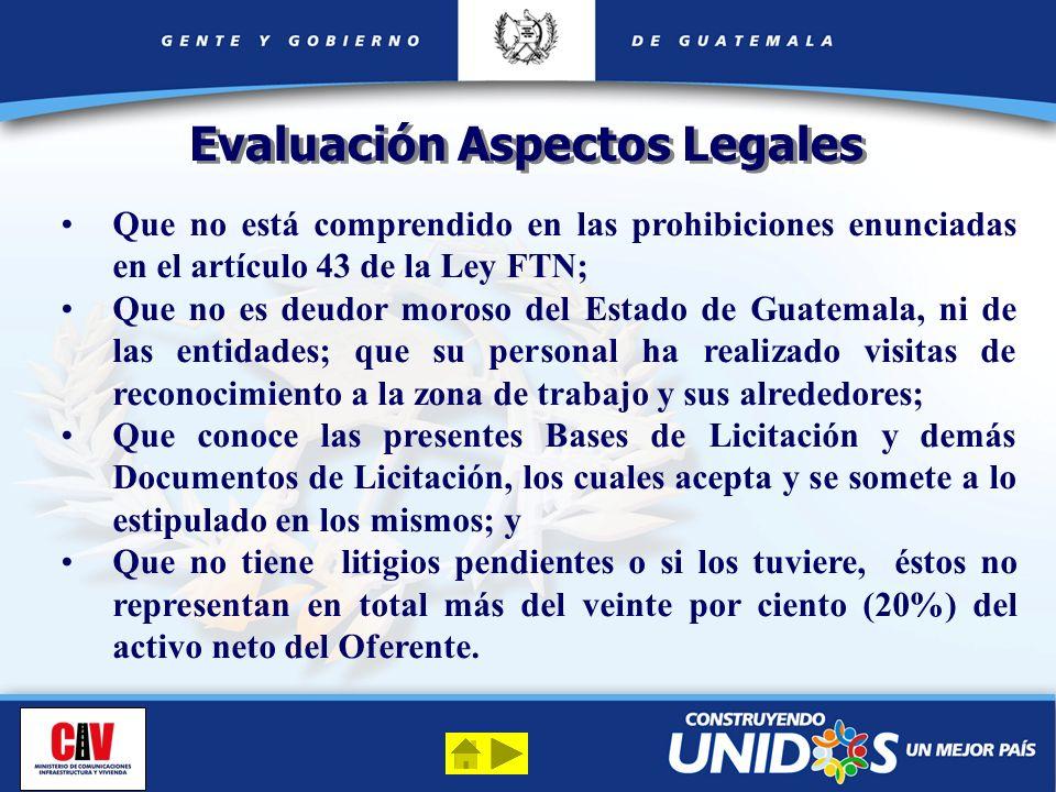 Evaluación Aspectos Legales