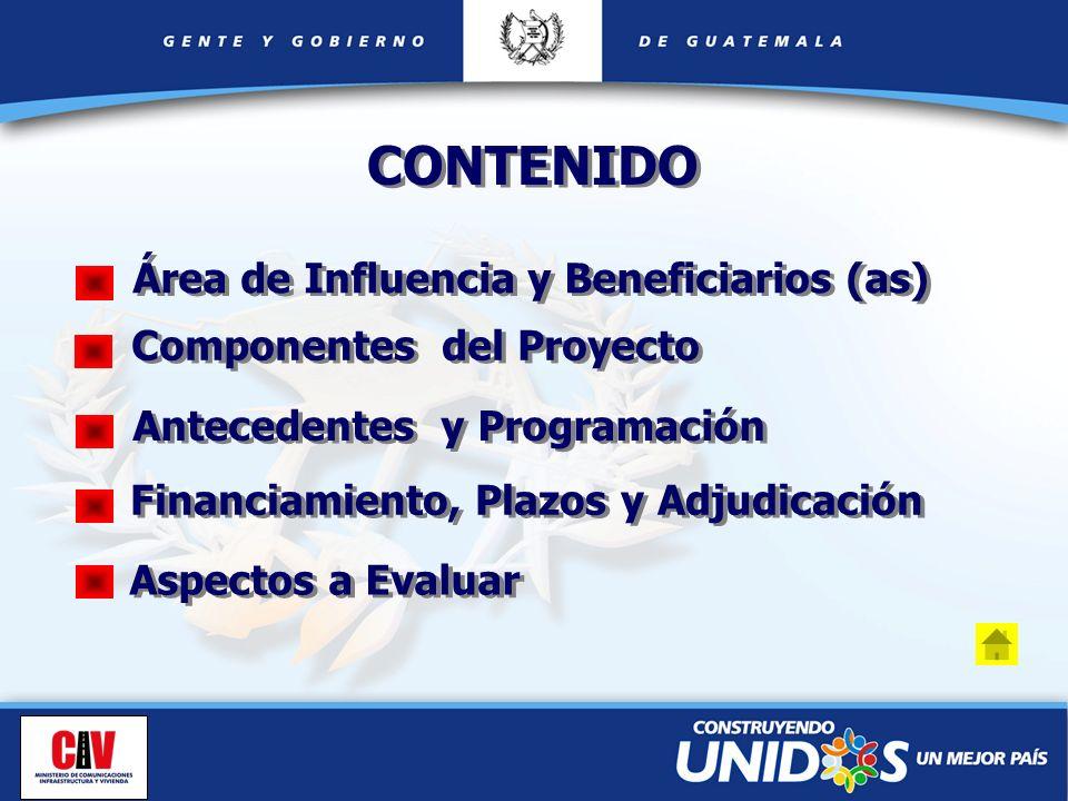 CONTENIDO Área de Influencia y Beneficiarios (as)
