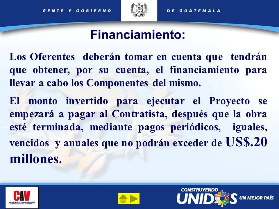 Financiamiento: