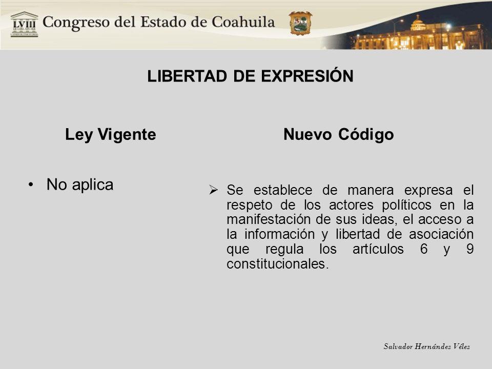 LIBERTAD DE EXPRESIÓN Ley Vigente