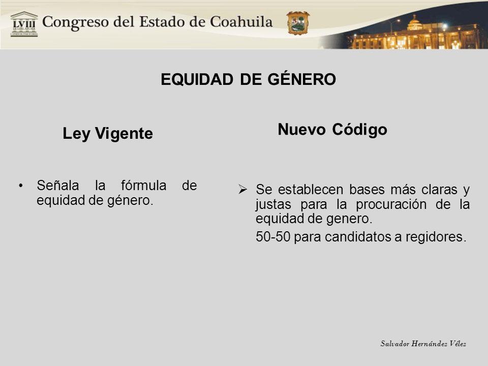 EQUIDAD DE GÉNERO Ley Vigente