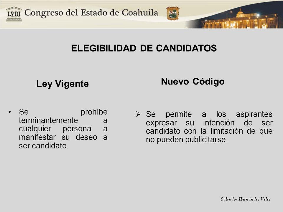 ELEGIBILIDAD DE CANDIDATOS