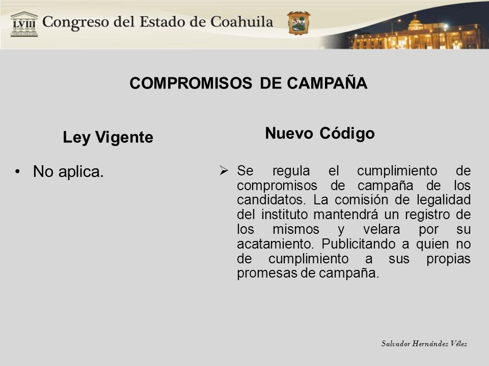 COMPROMISOS DE CAMPAÑA