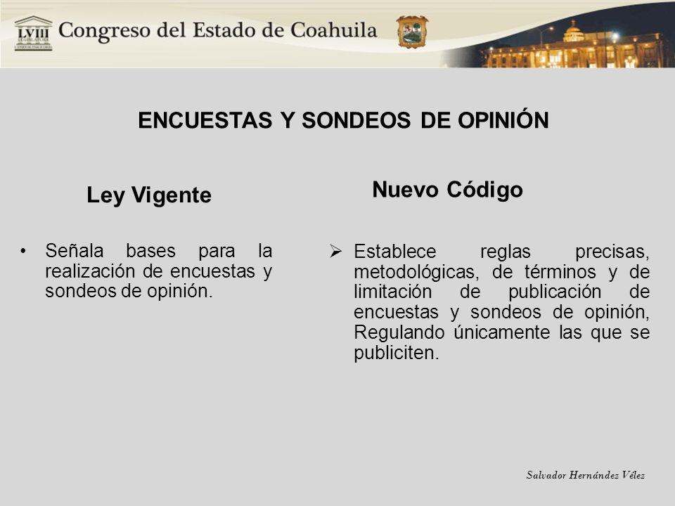 ENCUESTAS Y SONDEOS DE OPINIÓN