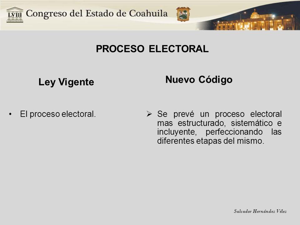 PROCESO ELECTORAL Ley Vigente