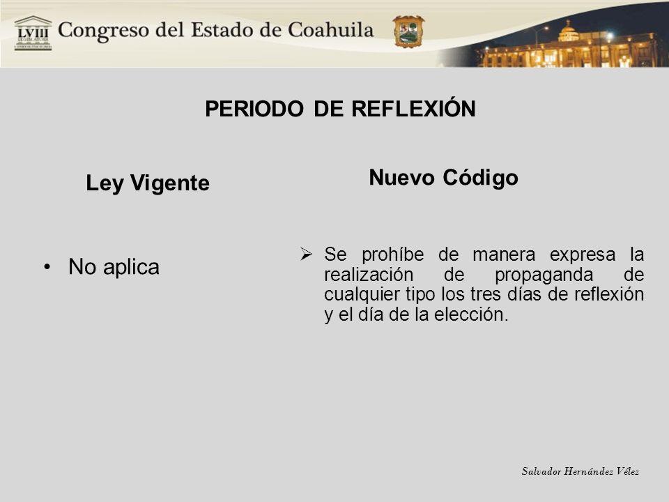 PERIODO DE REFLEXIÓN Ley Vigente