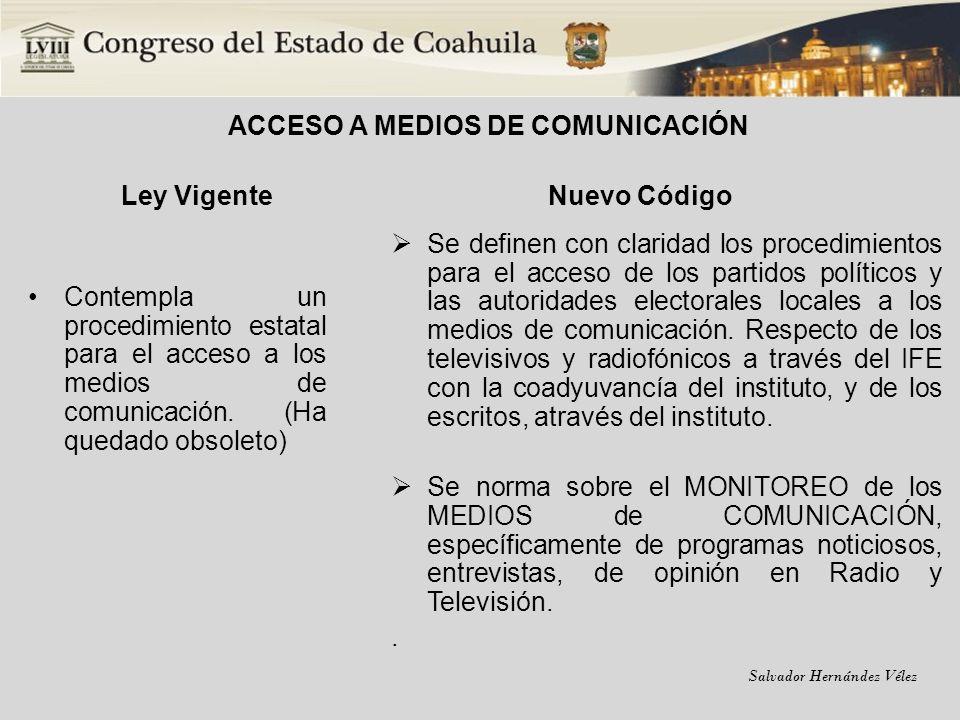 ACCESO A MEDIOS DE COMUNICACIÓN