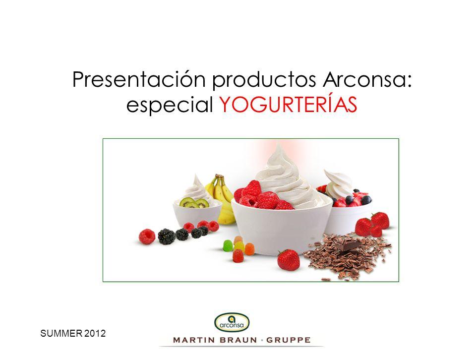 Presentación productos Arconsa: especial YOGURTERÍAS