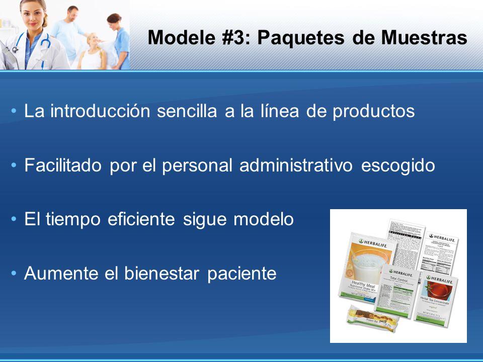 Modele #3: Paquetes de Muestras