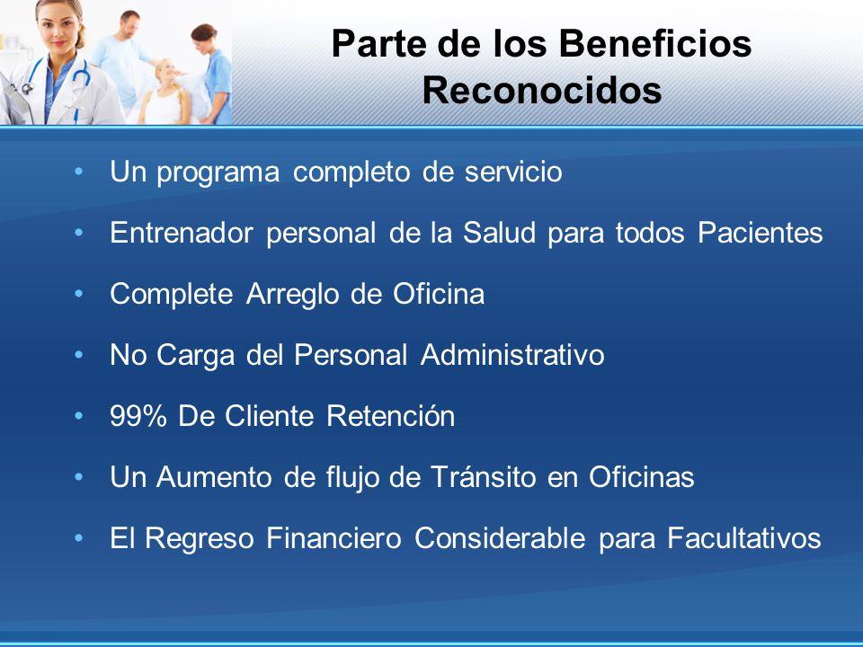 Parte de los Beneficios Reconocidos