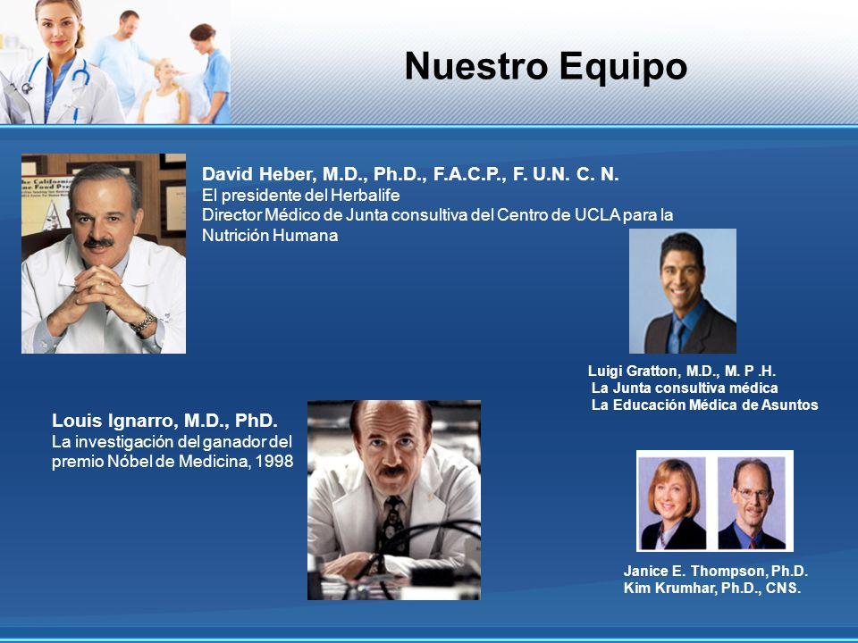 Nuestro Equipo David Heber, M.D., Ph.D., F.A.C.P., F. U.N. C. N.
