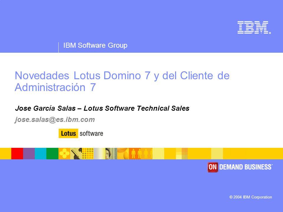 Novedades Lotus Domino 7 y del Cliente de Administración 7