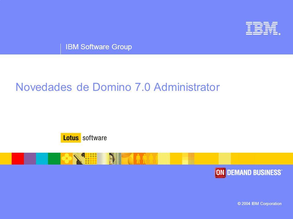 Novedades de Domino 7.0 Administrator