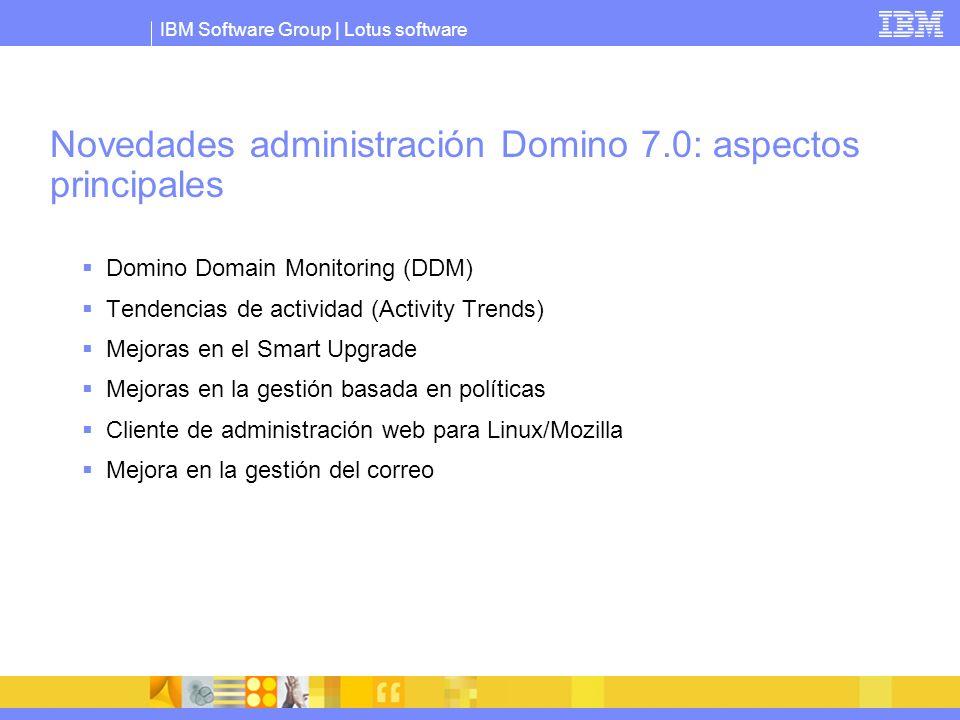 Novedades administración Domino 7.0: aspectos principales
