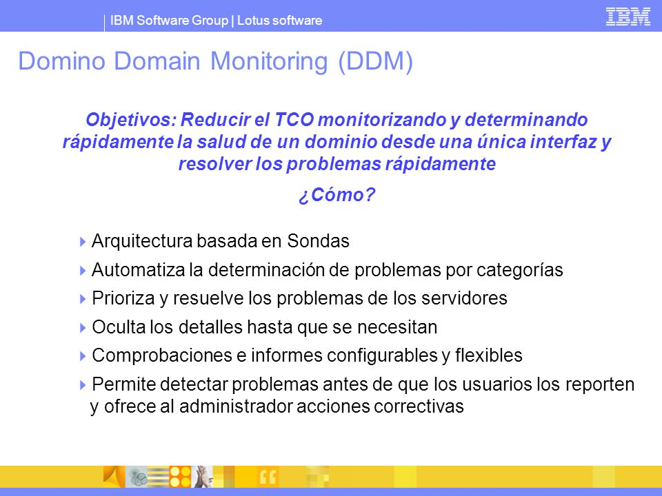 Domino Domain Monitoring (DDM)