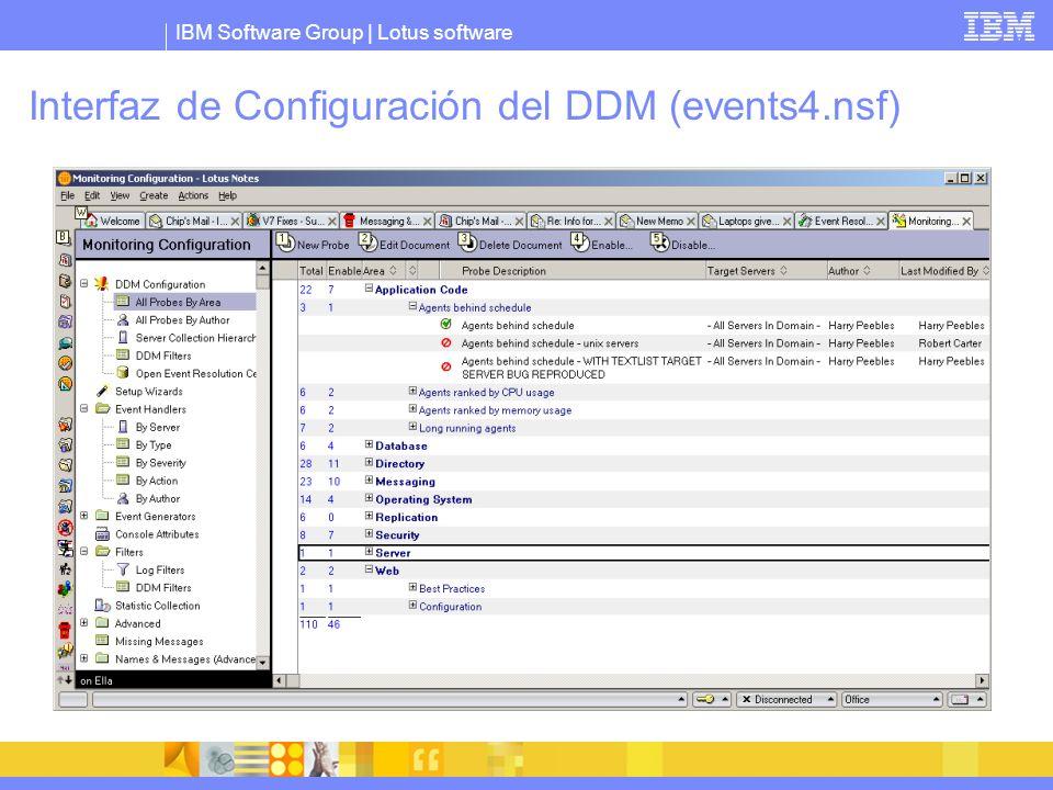 Interfaz de Configuración del DDM (events4.nsf)