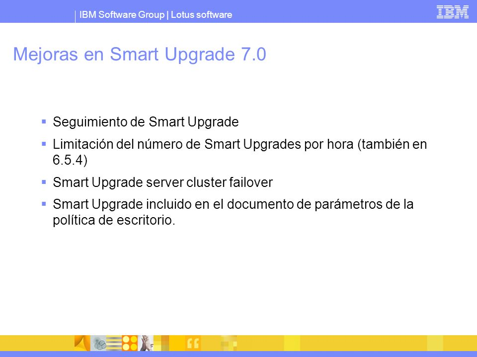 Mejoras en Smart Upgrade 7.0