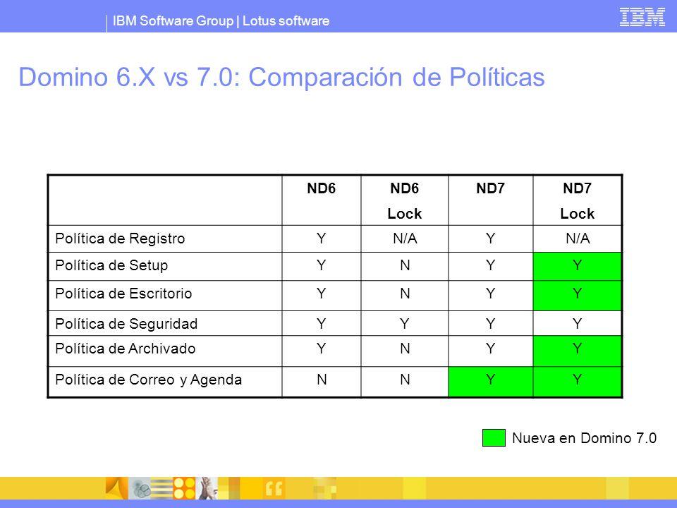 Domino 6.X vs 7.0: Comparación de Políticas