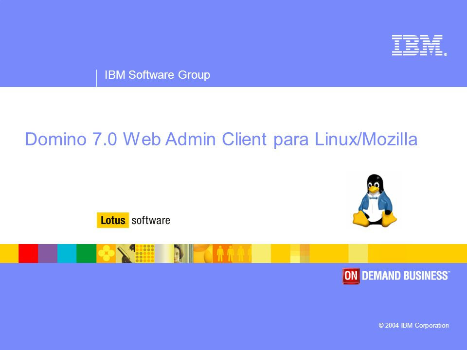 Domino 7.0 Web Admin Client para Linux/Mozilla