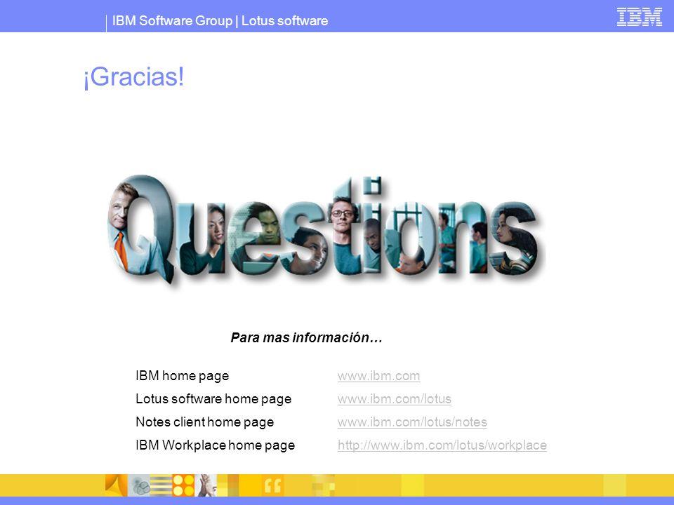 ¡Gracias! Para mas información… IBM home page www.ibm.com