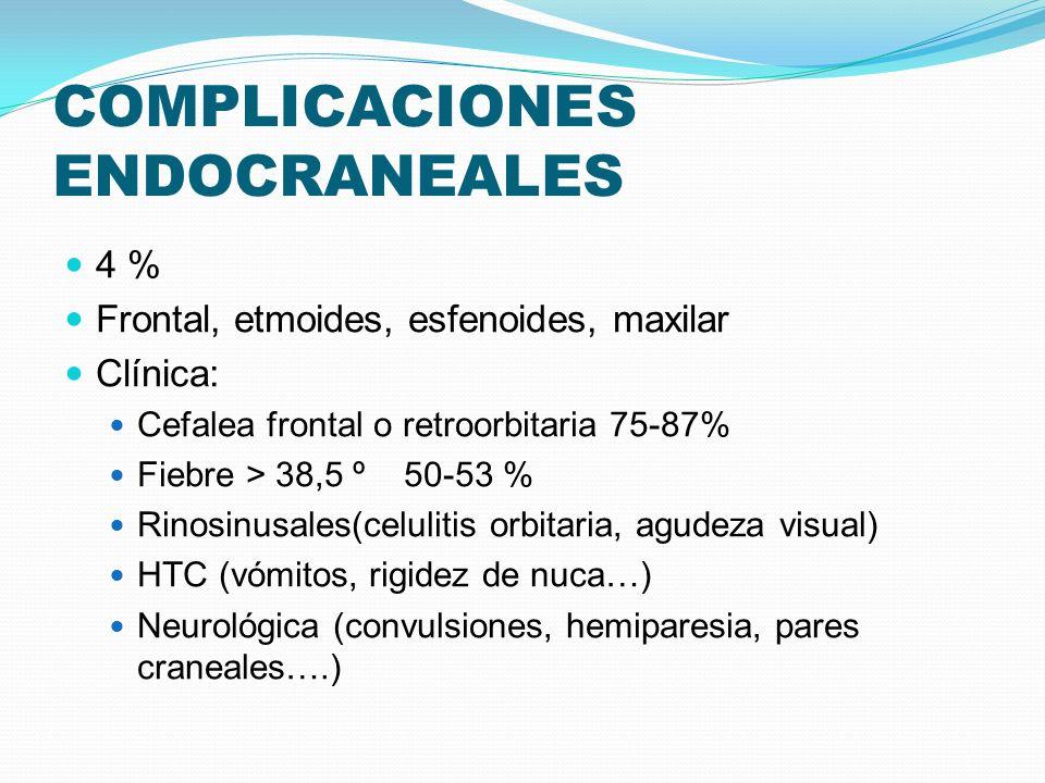 COMPLICACIONES ENDOCRANEALES
