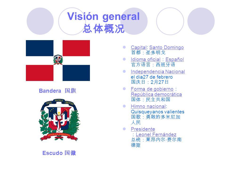 Visión general 总体概况 Bandera 国旗 Escudo 国徽