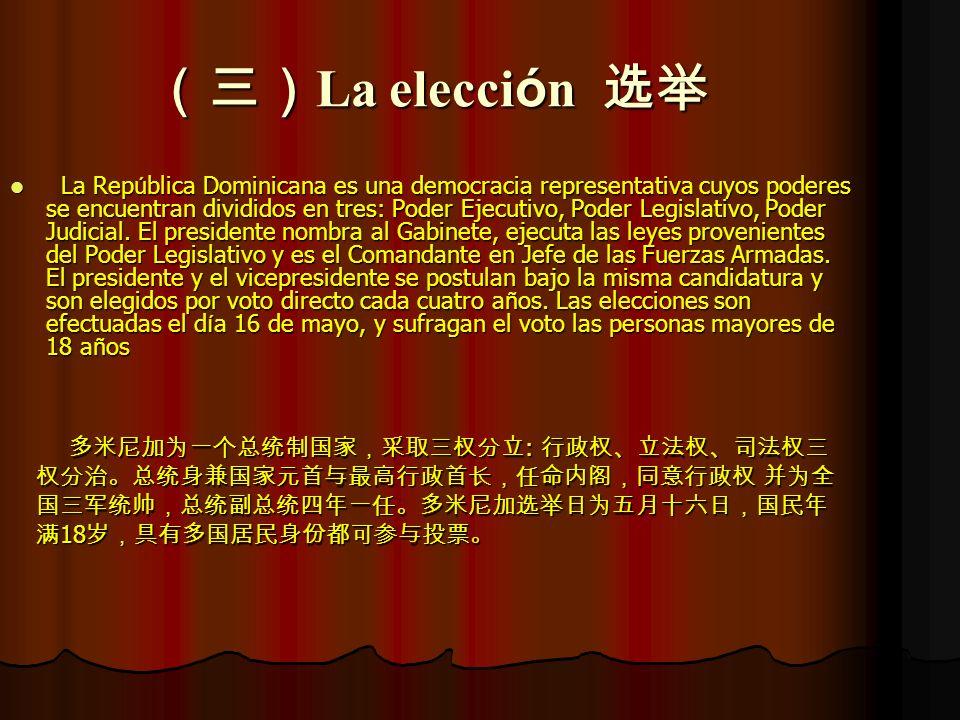 (三)La elección 选举