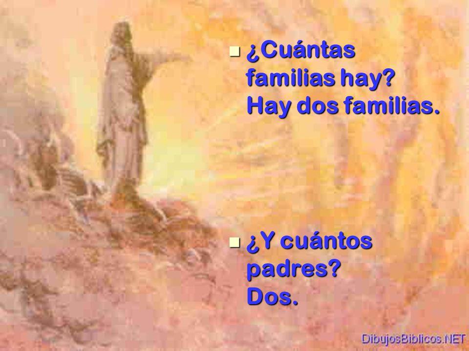 ¿Cuántas familias hay Hay dos familias.