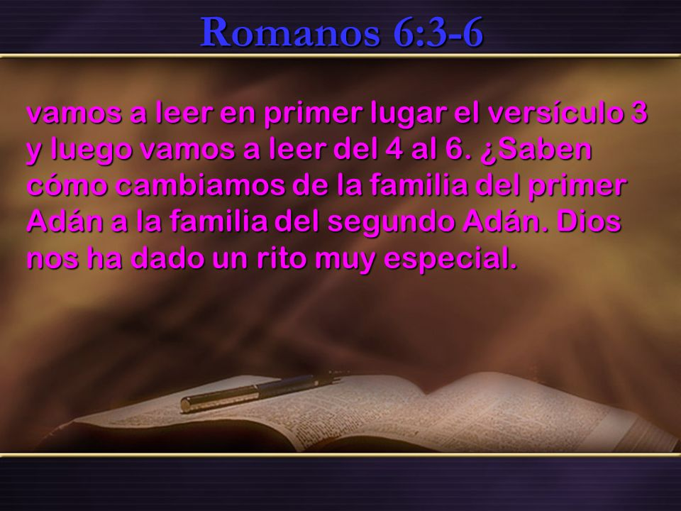 Romanos 6:3-6