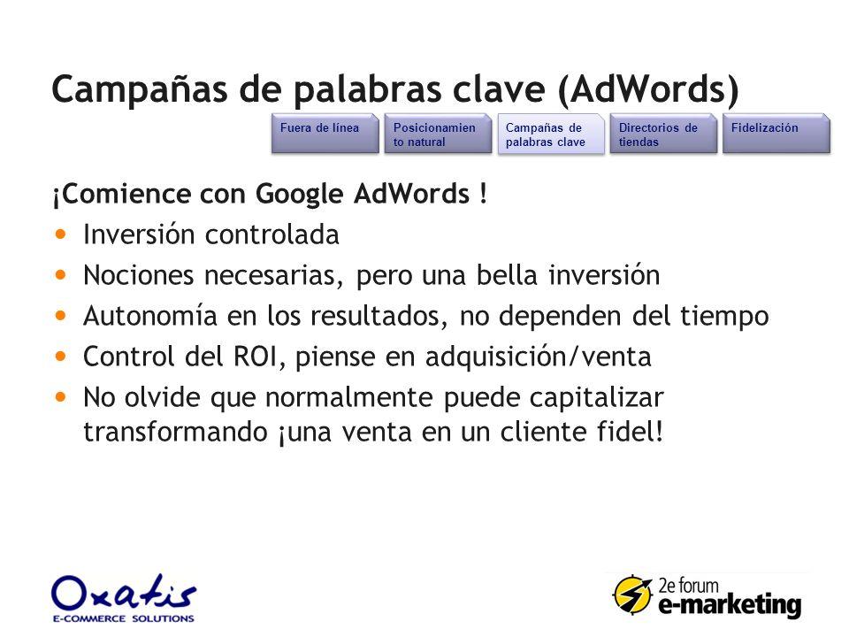 Campañas de palabras clave (AdWords)