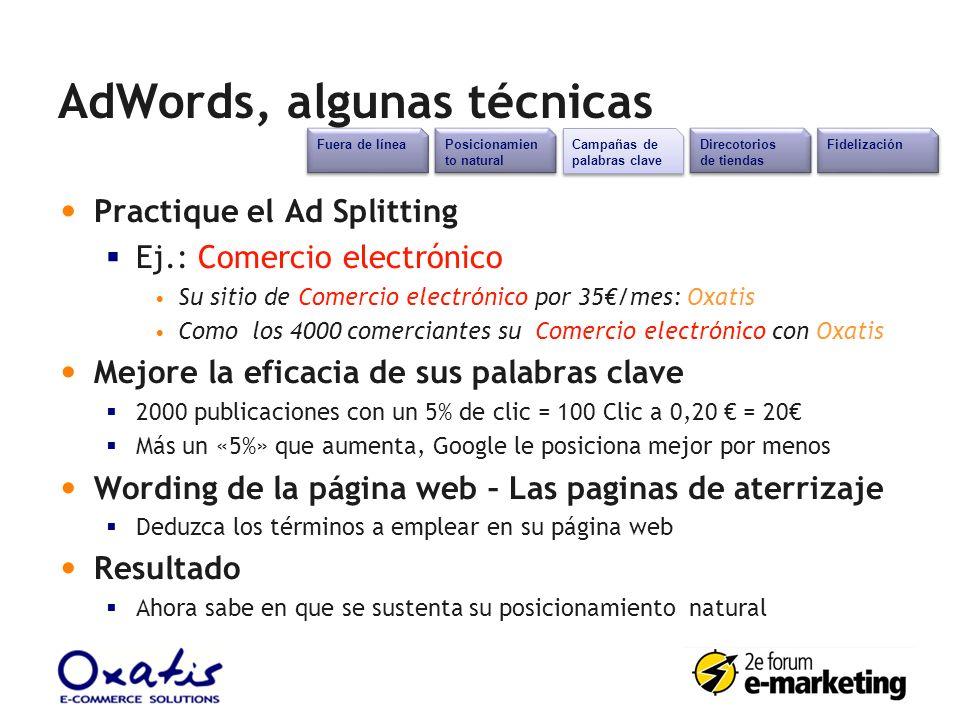 AdWords, algunas técnicas