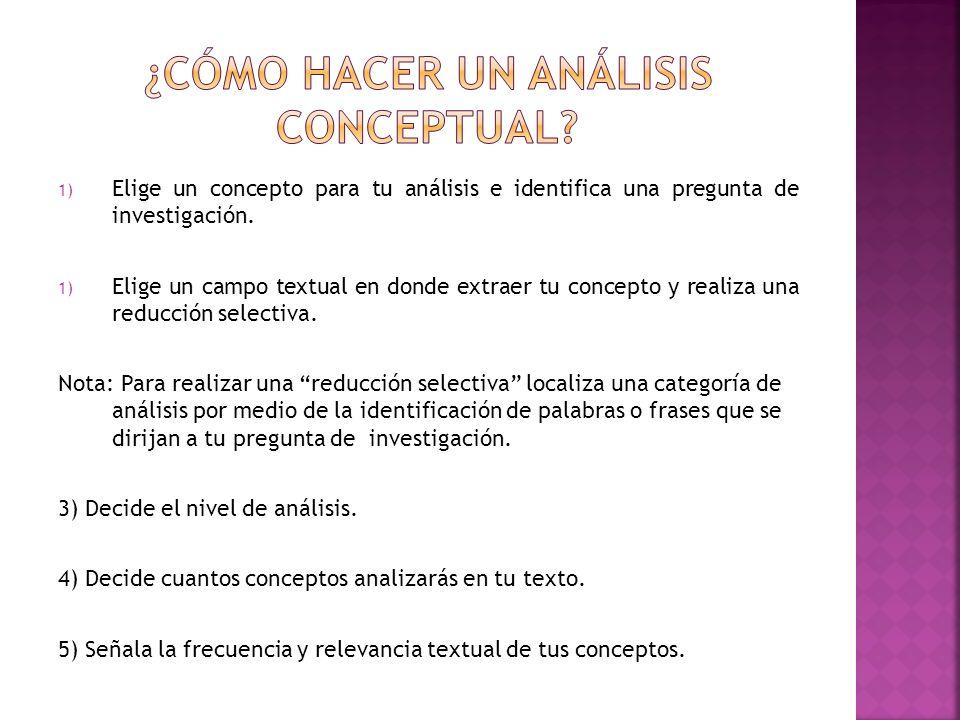 ¿cómo hacer un análisis conceptual