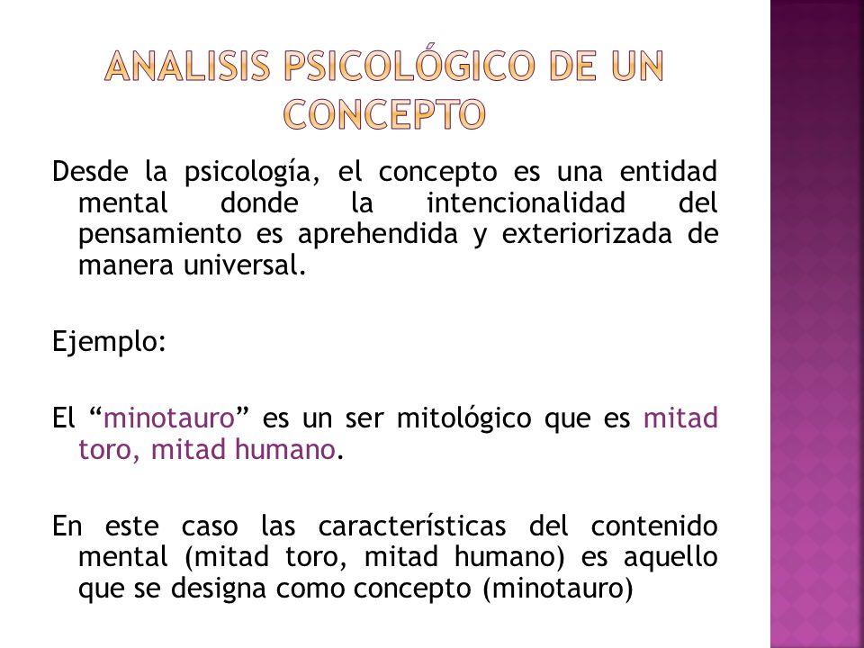 Analisis psicológico de un concepto