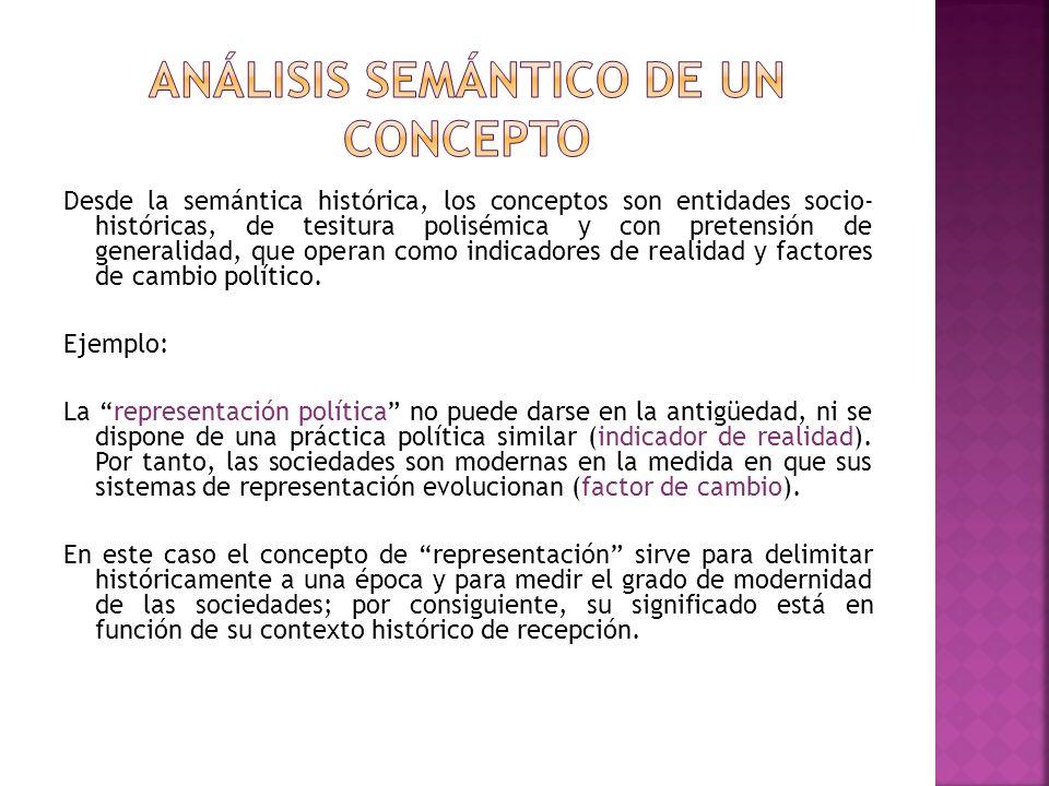 Análisis semántico de un concepto