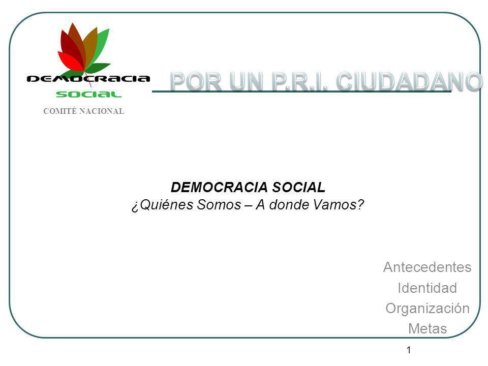 DEMOCRACIA SOCIAL ¿Quiénes Somos – A donde Vamos