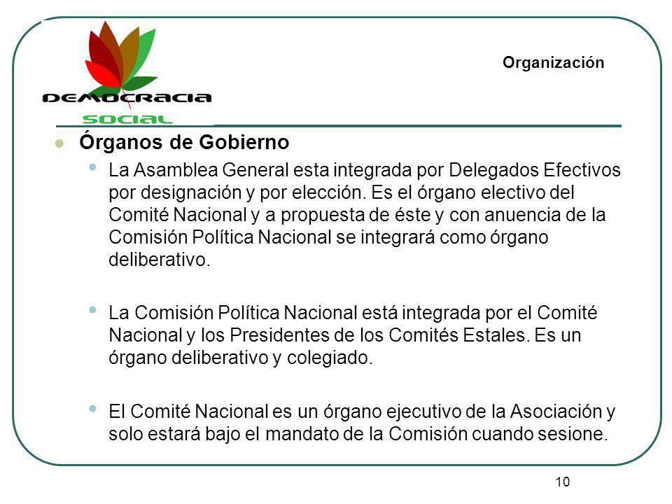 OrganizaciónÓrganos de Gobierno.