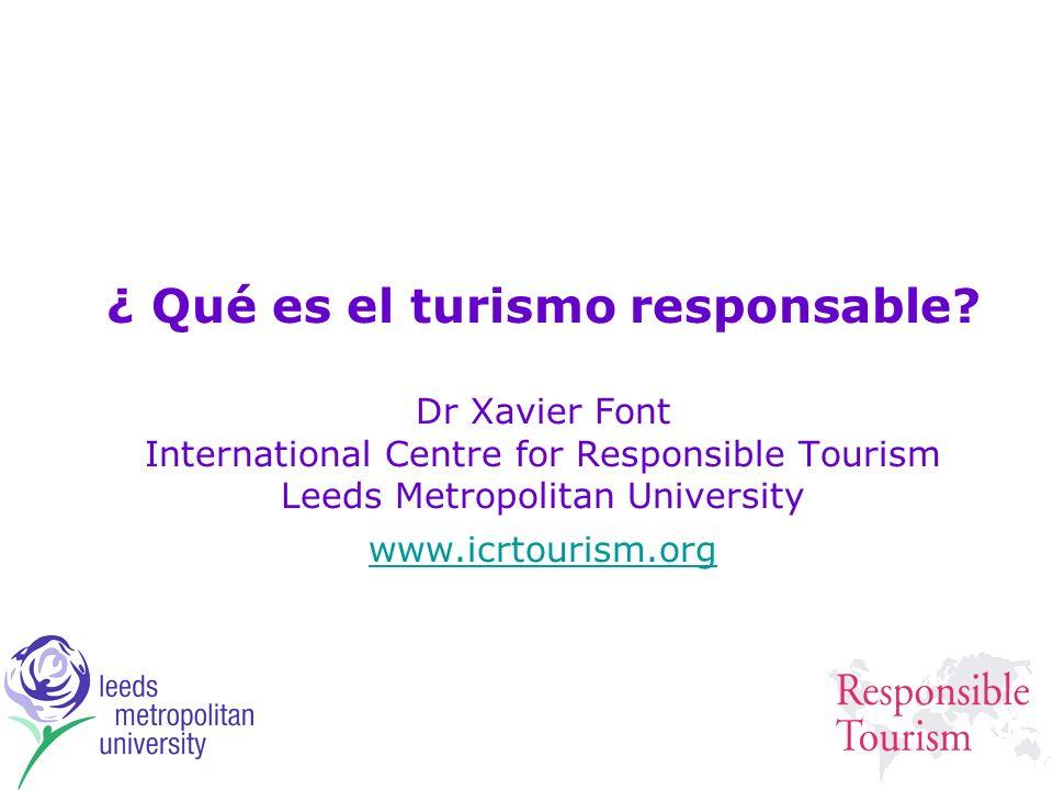 ¿ Qué es el turismo responsable