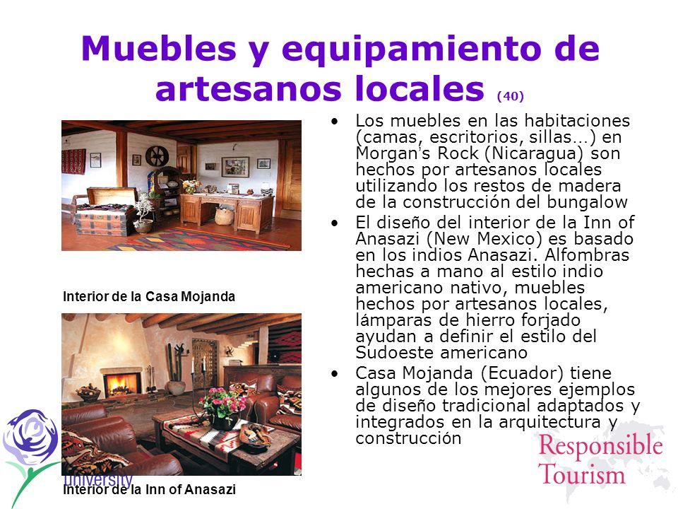 Muebles y equipamiento de artesanos locales (40)