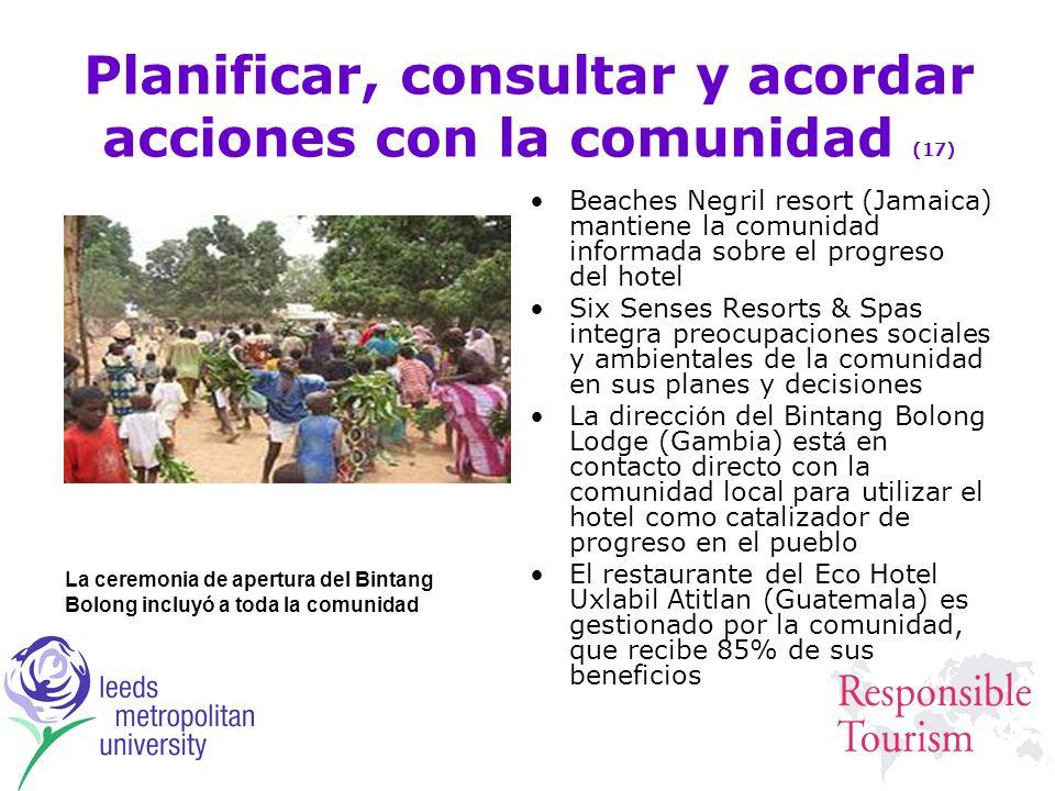 Planificar, consultar y acordar acciones con la comunidad (17)