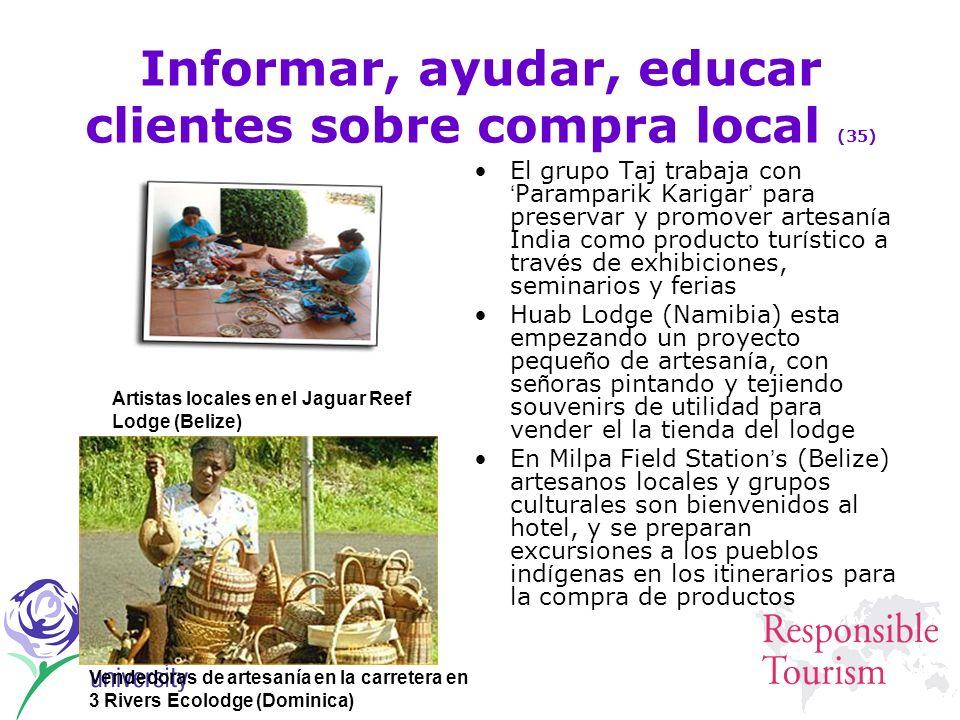 Informar, ayudar, educar clientes sobre compra local (35)