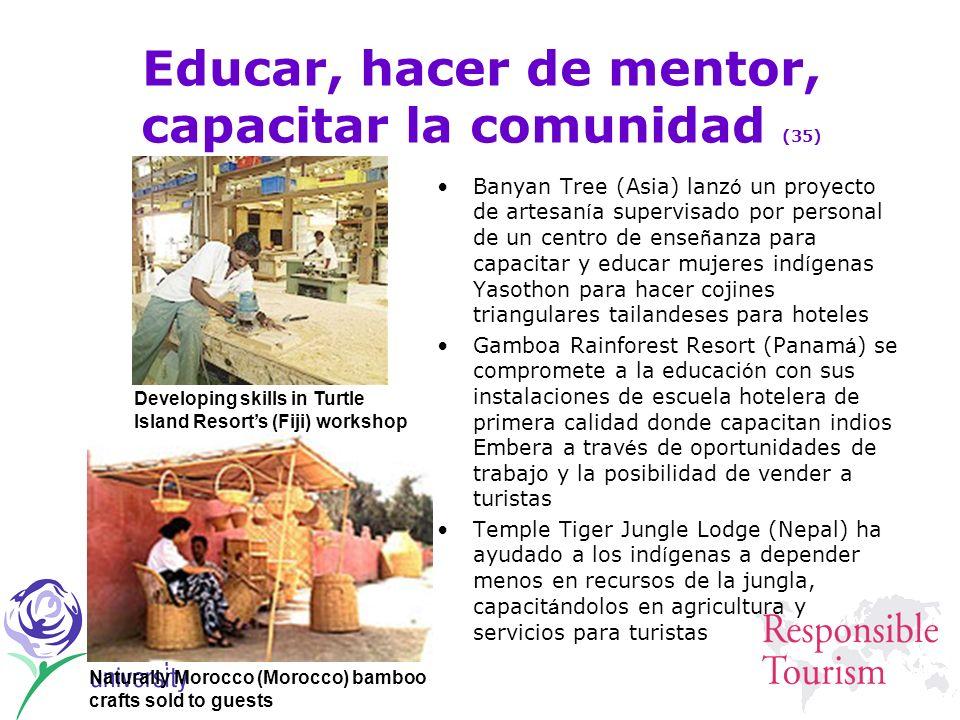 Educar, hacer de mentor, capacitar la comunidad (35)