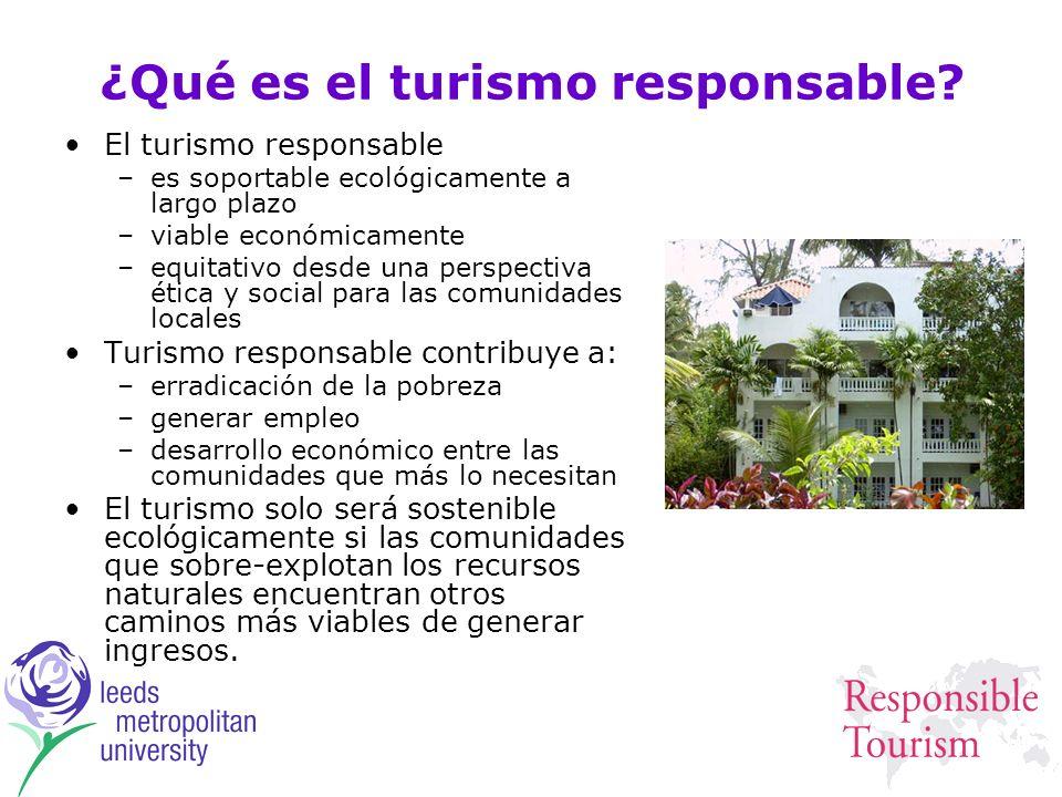 ¿Qué es el turismo responsable