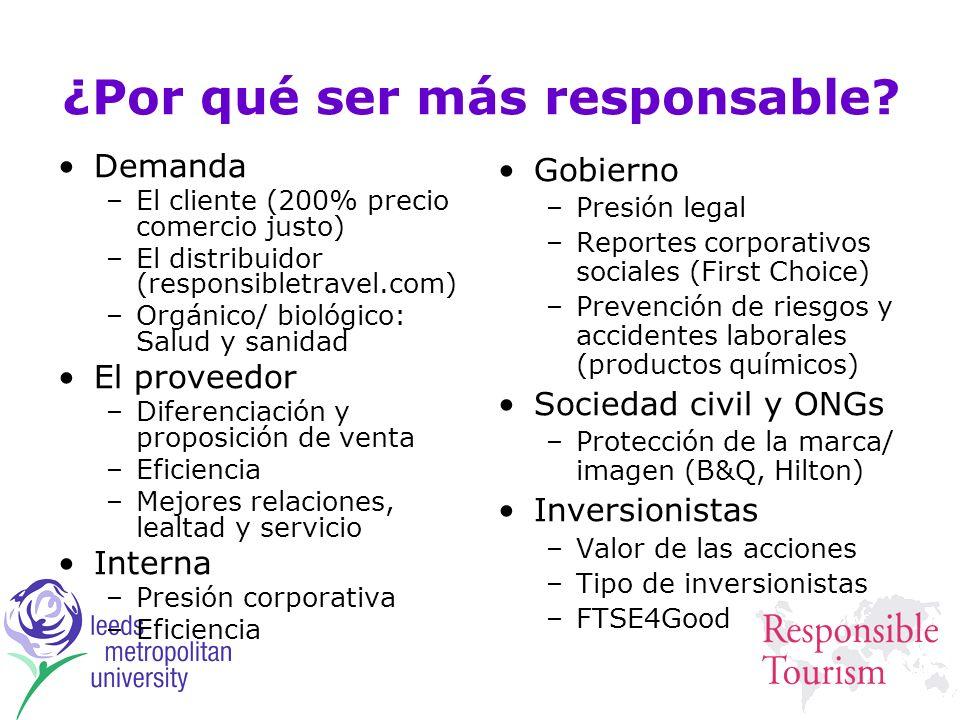 ¿Por qué ser más responsable