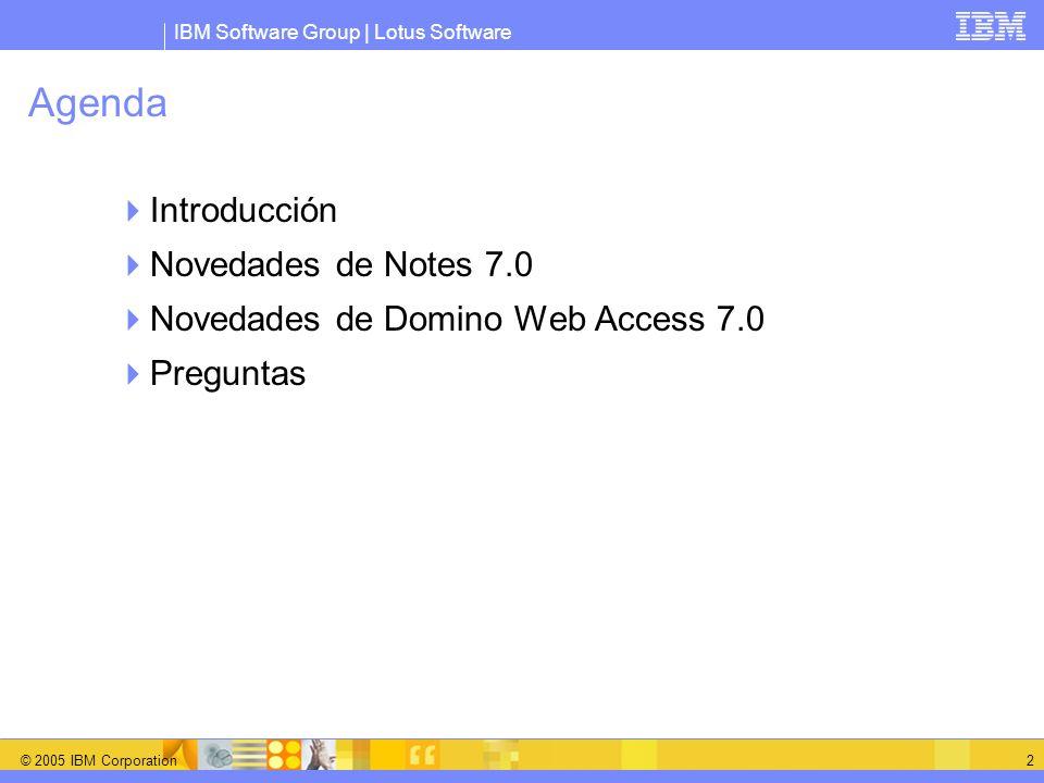 Agenda Introducción Novedades de Notes 7.0