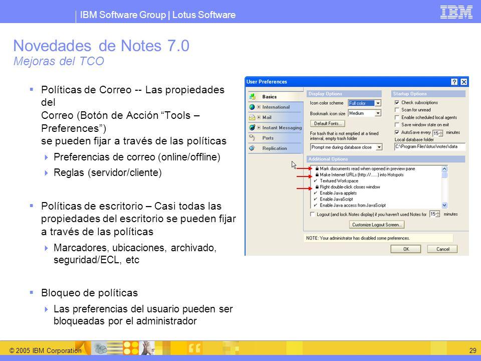 Novedades de Notes 7.0 Mejoras del TCO