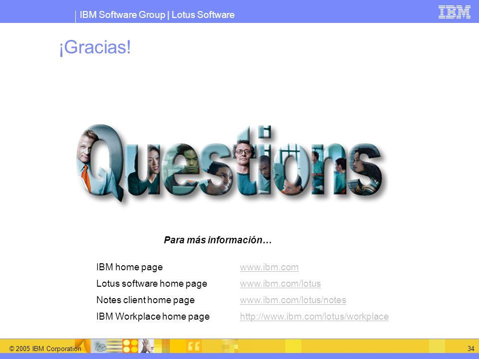 ¡Gracias! Para más información… IBM home page www.ibm.com