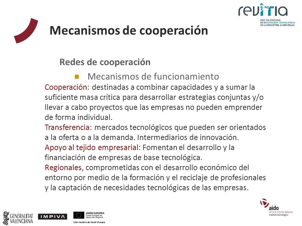 Mecanismos de cooperación